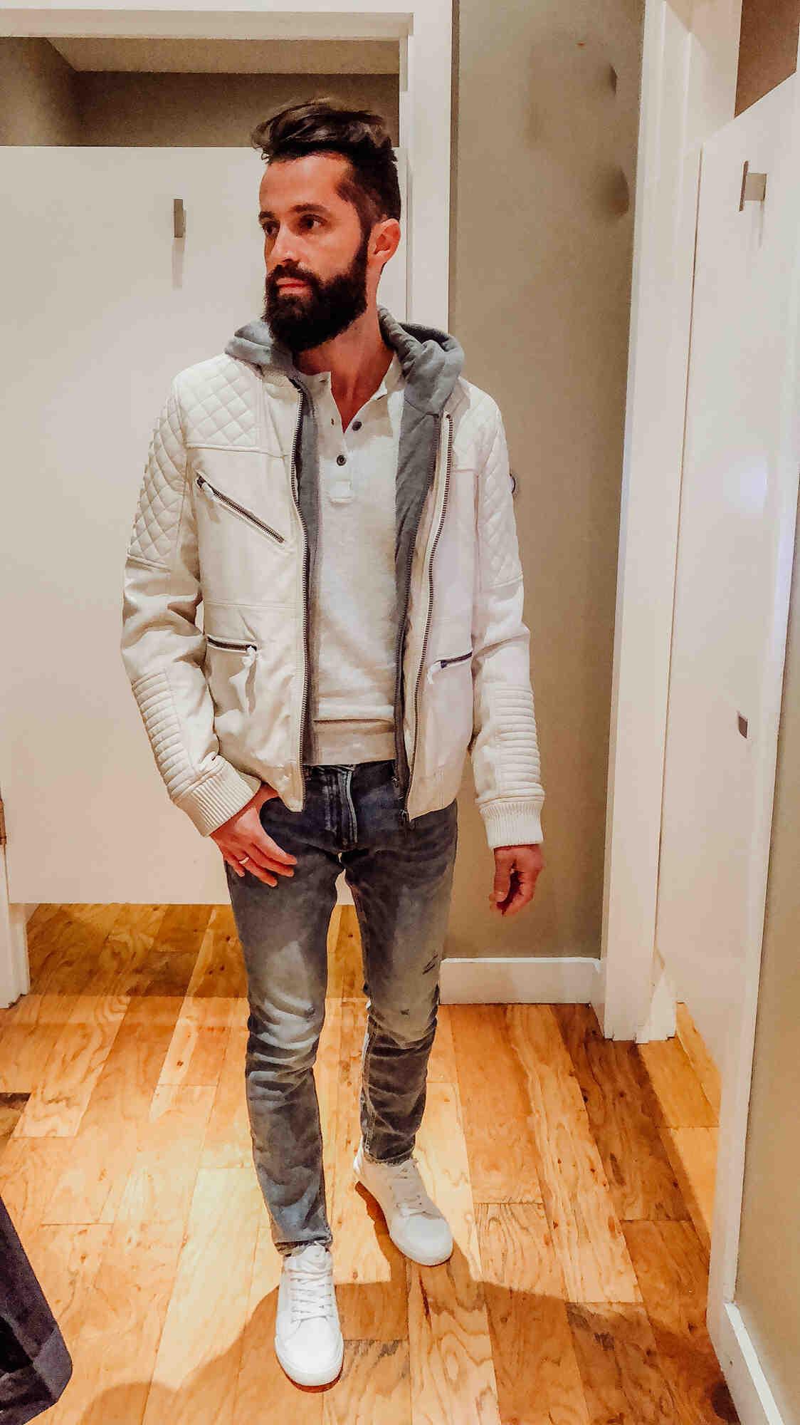 How do you wear a white leather blazer?